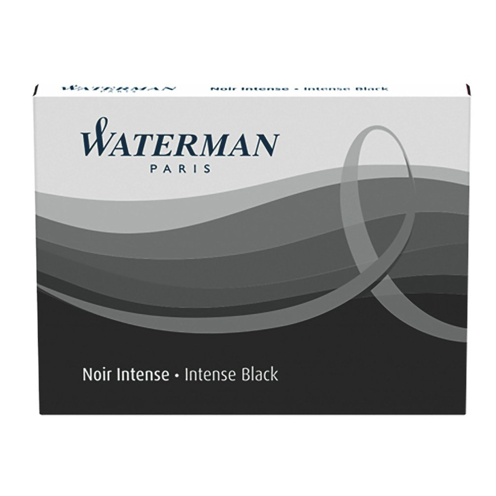 Cartucho Waterman Preto para caneta tinteiro 8 un S0110850