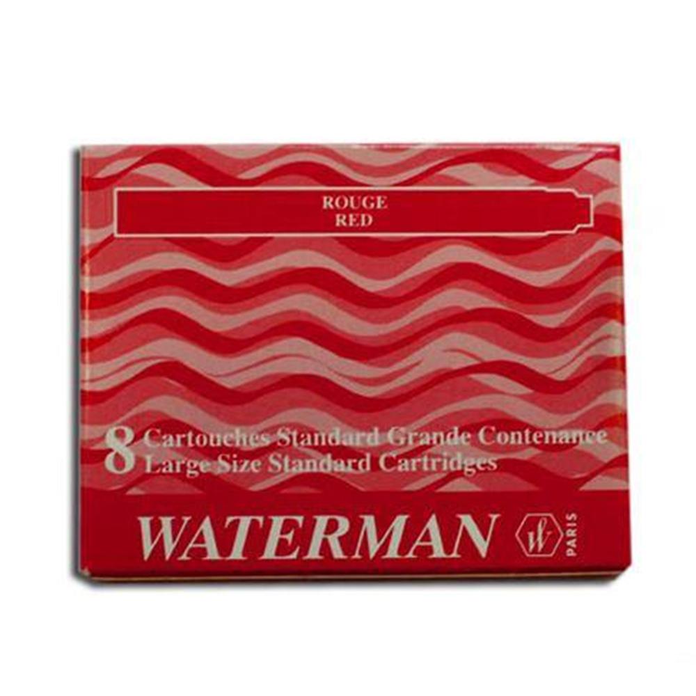 Cartucho Waterman Vermelho para caneta tinteiro 8 un S0110880