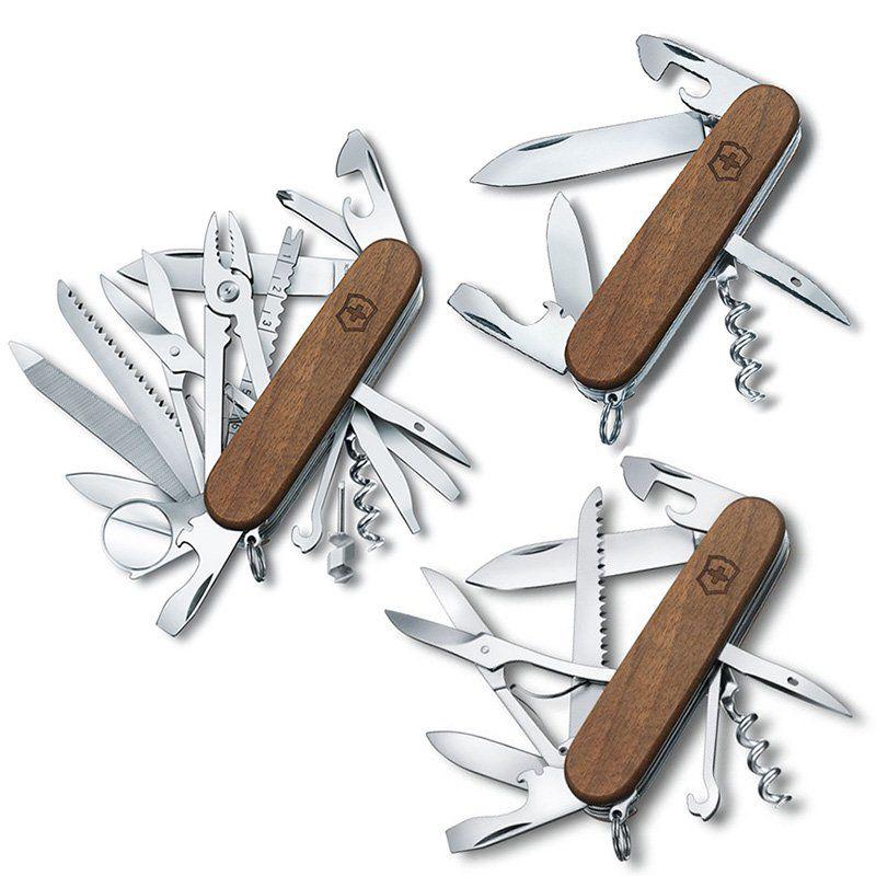 Coleção Canivete Victorinox Wood Spartan Huntsman Swisschamp