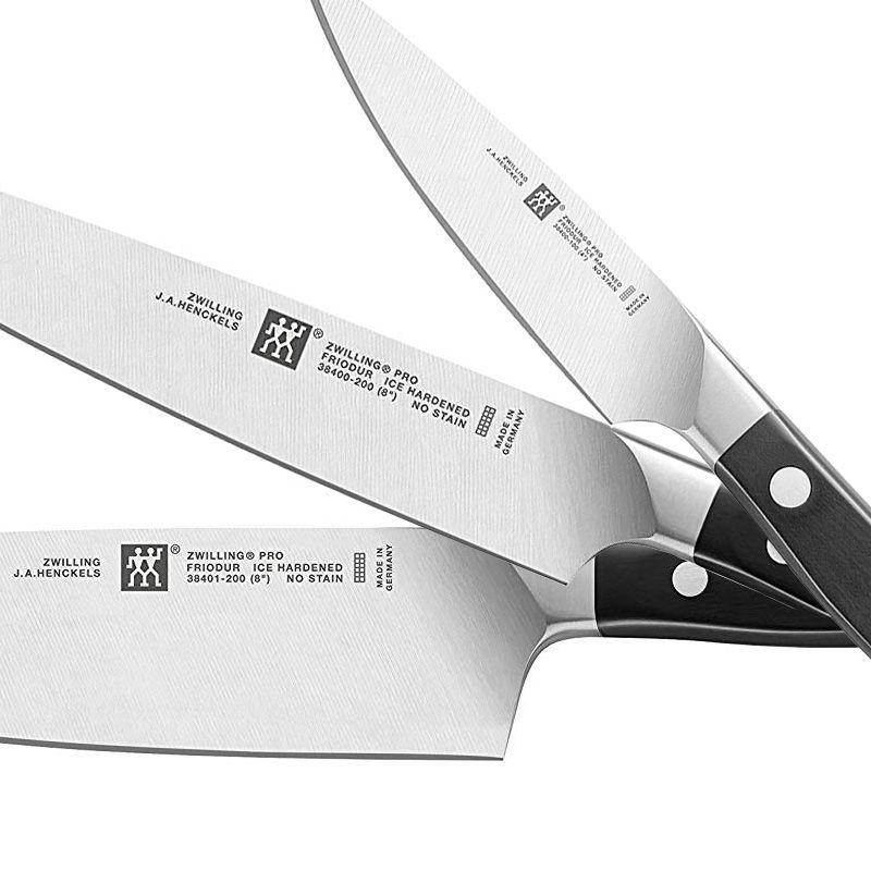 """Conjunto de 3 faca Zwilling Pro Chef 8"""" Carne 8"""" e Guarnecer 4""""  38430-007"""