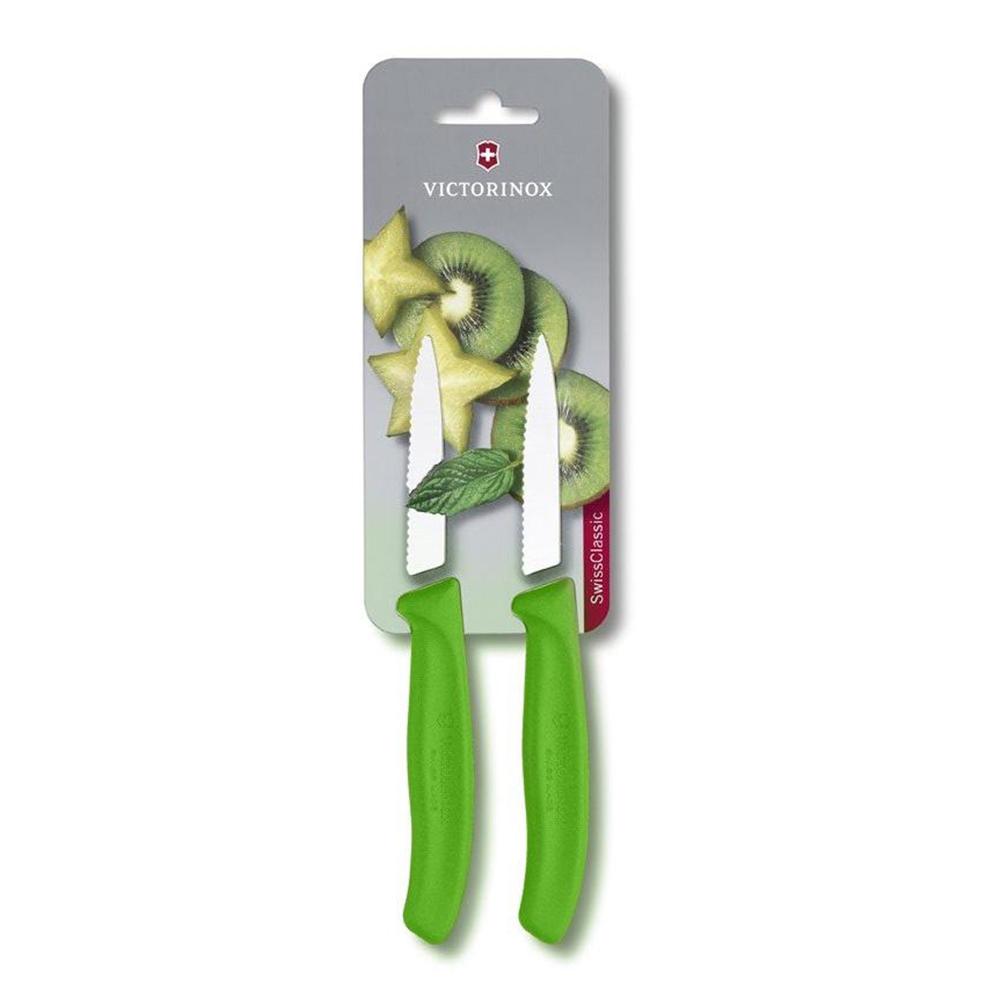 Conjunto de Facas Victorinox verde para legumes serrilhada 8 cm 6.7636..L114B
