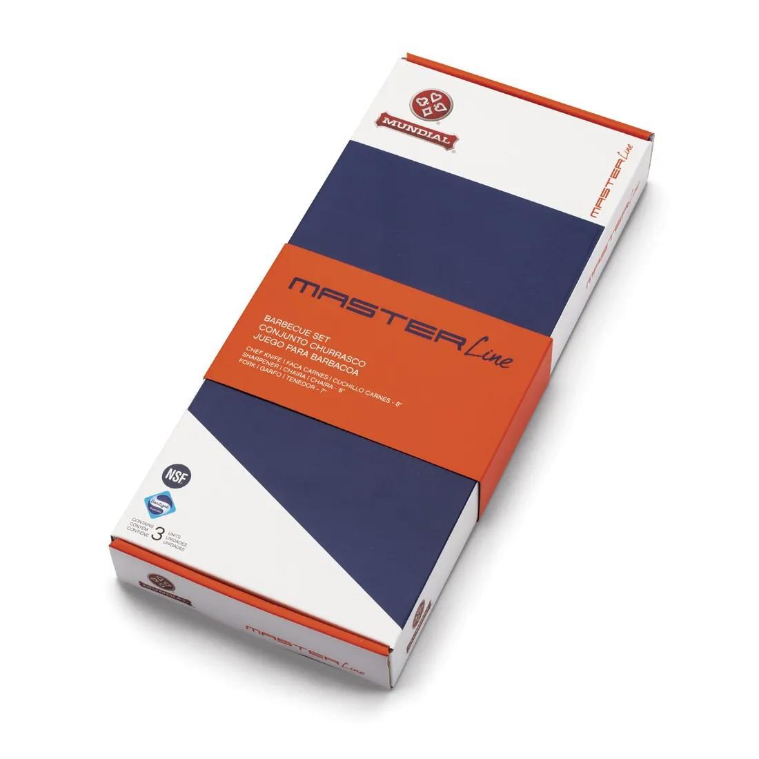 Conjunto para Churrasco Mundial Master Line preto 3 peças 7800-3CH