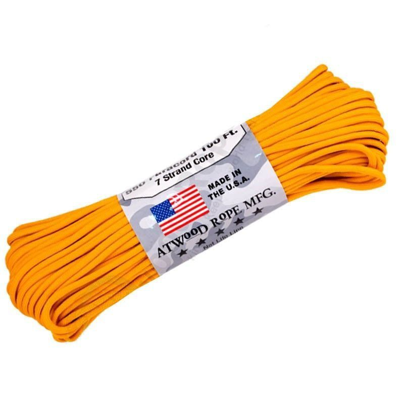 Corda de Nailon Paracord 550 Amarelo Ouro 10 metros ATS25-10