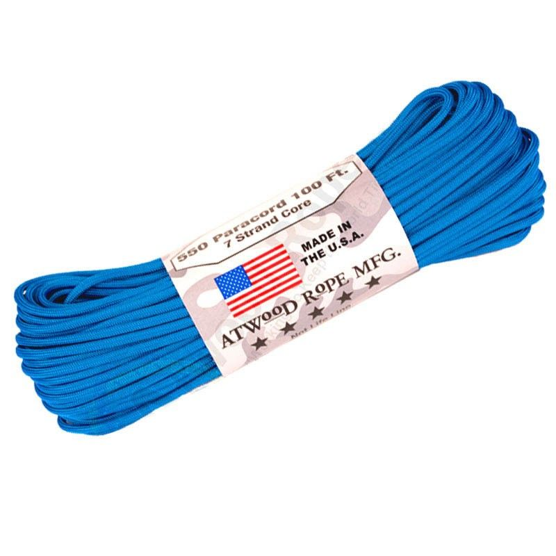 Corda de Nailon Paracord 550 Blue por metro ATSS02