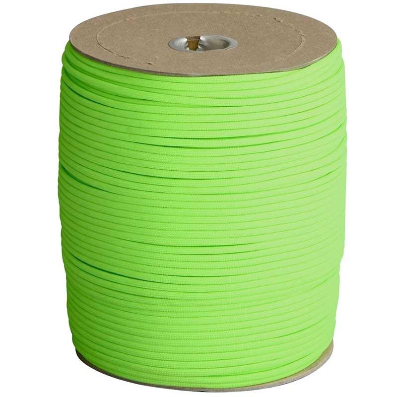 Corda de Nailon Paracord 550 Neon Green preço por metro ATSS18