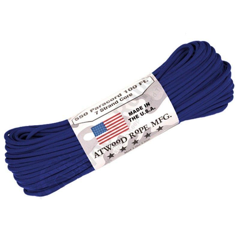 Corda de Nailon Paracord 550 Royal Blue por metro ATSS26