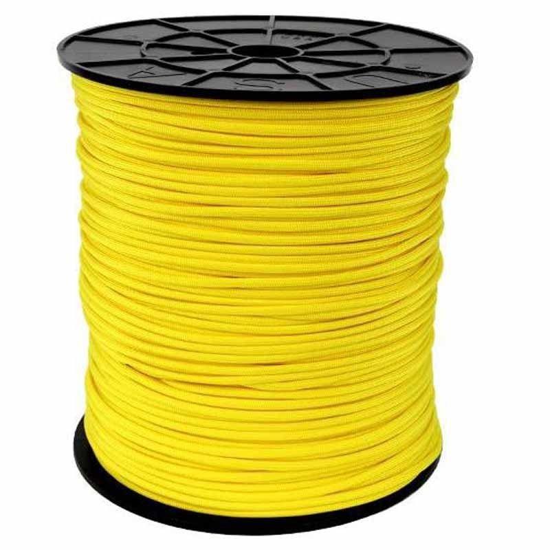 Corda de Nailon Paracord 550 Yellow por metro ATSS04