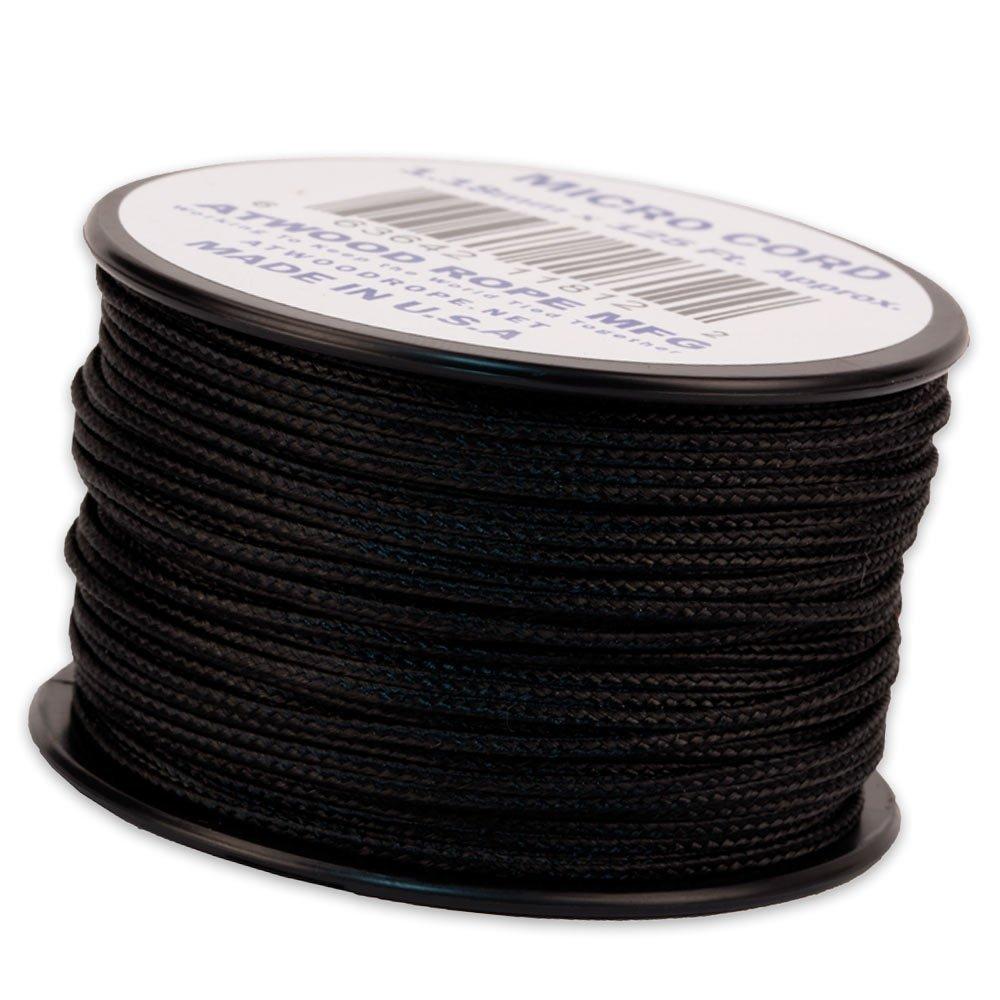 Cordão de Nailon Micro Cord Black 1.18 mm x 37 m ATMS01