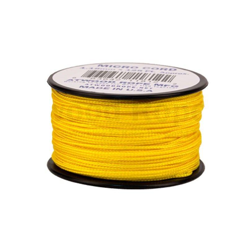 Cordão de Nailon Micro Cord Yellow 37 metros ATMS04