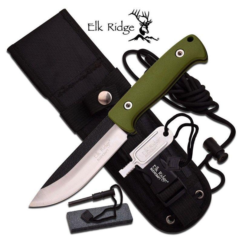 Faca Elk Ridge Survival Green 26.5 cm ER555GN