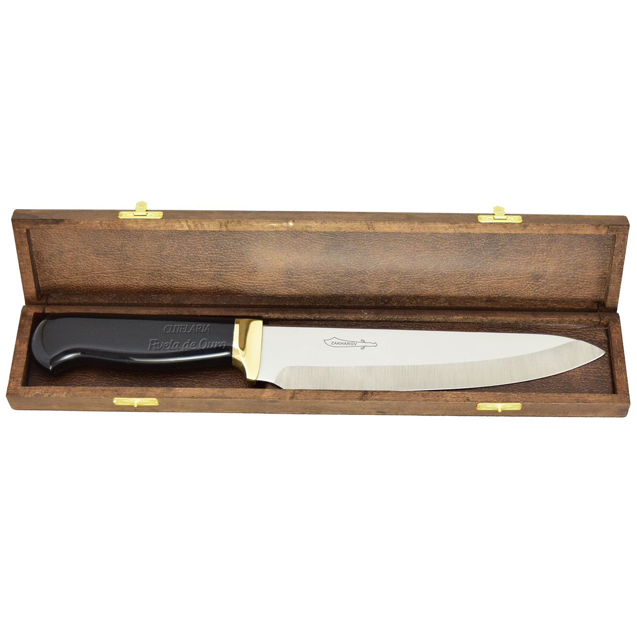 Faca Zakharov Chef Tradição acrílico preto  33 cm ZKIC21A