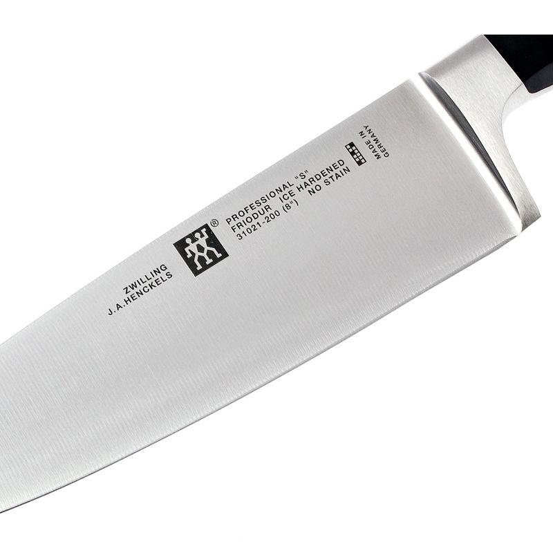 """Faca Zwilling Solingen Chef 8"""" Forjada + Pedra Carborundum 400"""