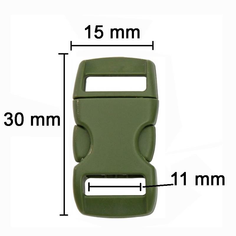 Fivela verde militar para pulseira de paracord KYBZ05OD