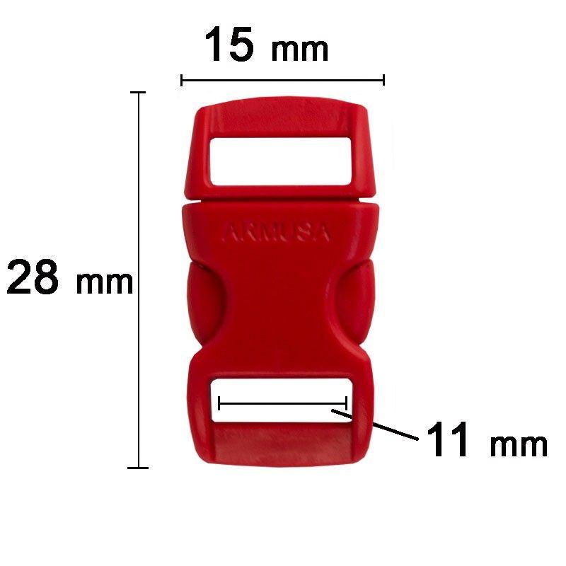 Fivela vermelha para pulseira de paracord PB05