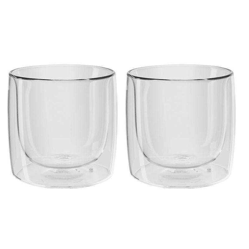 Jogo de Copos de Vidro Zwilling Sorrento Parede Dupla para Whisky  266 ml 39500-215