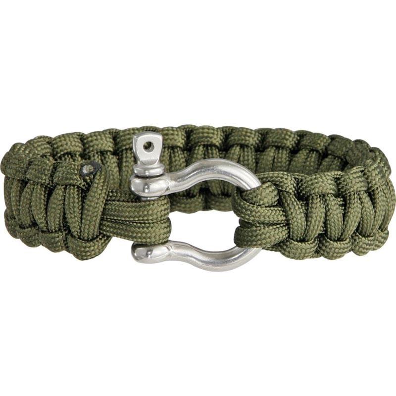 Pulseira de paracord Colt verde militar com manilha CT3023
