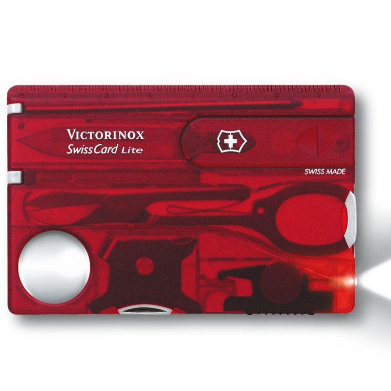 Swisscard Victorinox Lite vermelho translucido 0.7300.T