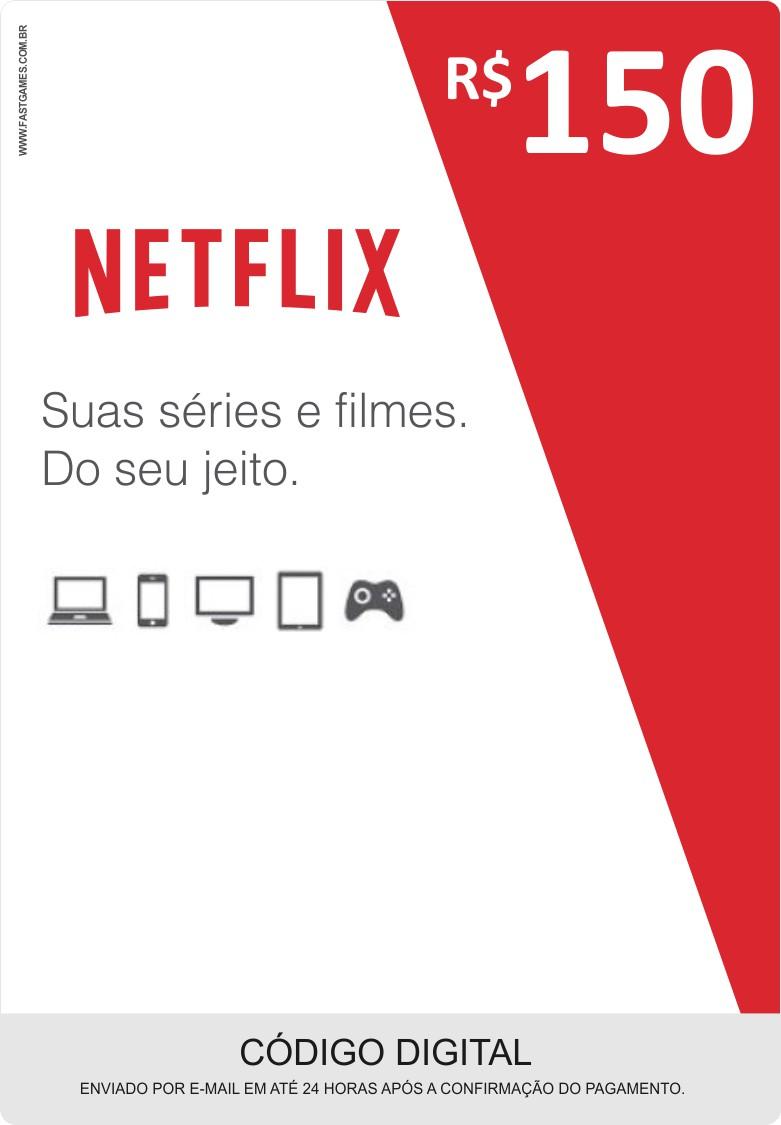 Cartão Pré-Pago Netflix R$150