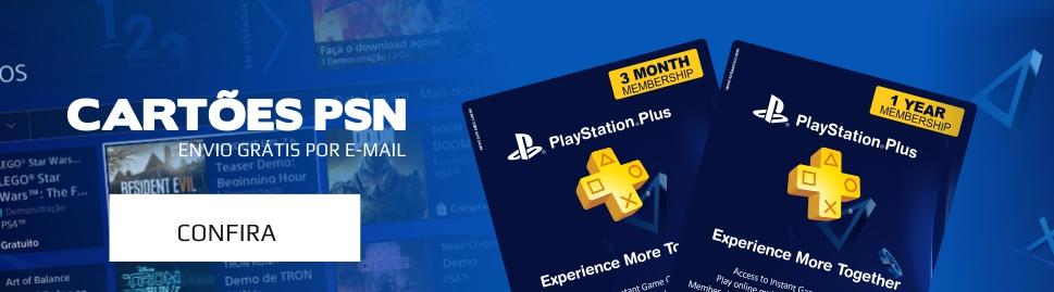 Cartões PSN - PSN PLus - PS4 - PS3