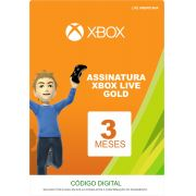 Xbox Live 3 Meses Gold Card (Live Americana)