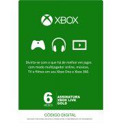 Xbox Live 6 Meses Gold Card (Live Brasil)