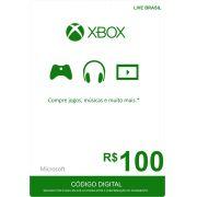 Cartão XBOX Live R$100 (Live Brasil)
