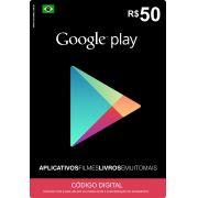 Cartão Google Play Brasil R$50