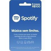 Cartão Presente Spotify PREMIUM 6 Meses