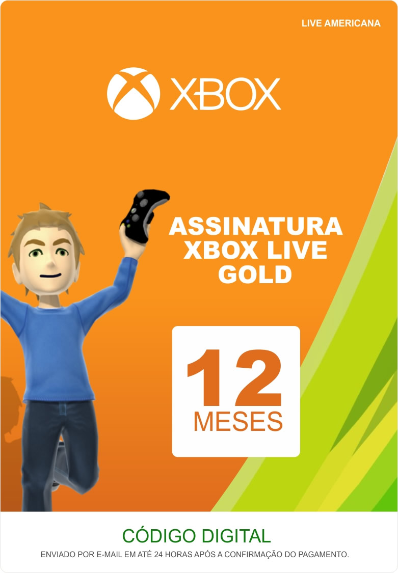 Xbox Live 12 Meses Gold Card (Live Americana)