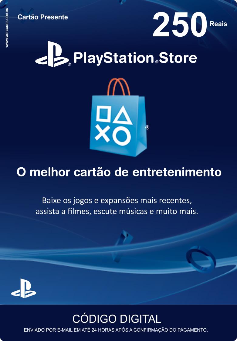 Cartão PSN Brasil R$250