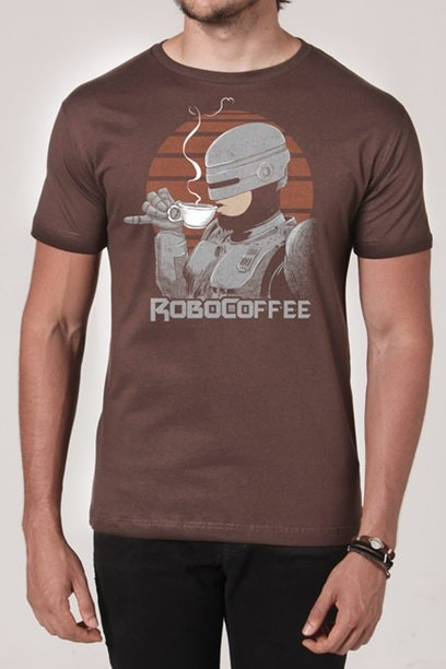 Camiseta RoboCoffee - Masculina  - FastGames