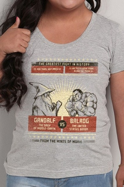 Camiseta The Greatest Fight In History - Feminina