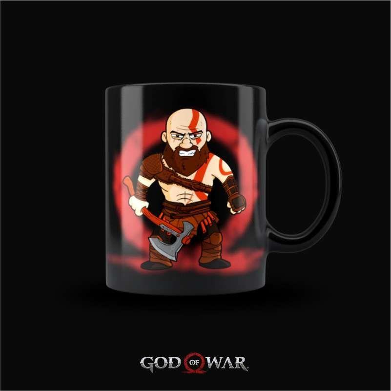 Caneca Kratos - God of War (Preta)