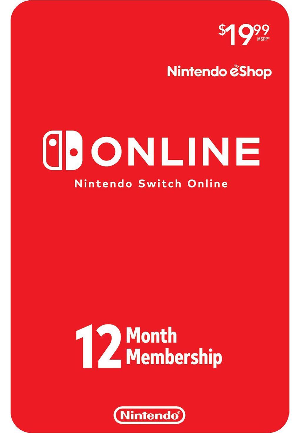 Cartão Nintendo Switch Online 12 Meses (eShop Americana)  - FastGames