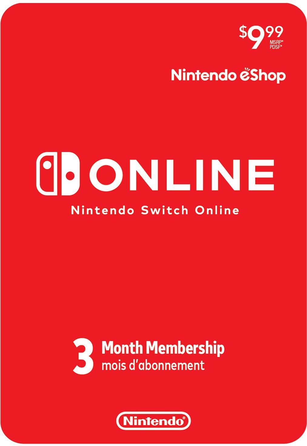 Cartão Nintendo Switch Online 3 Meses (eShop Americana)