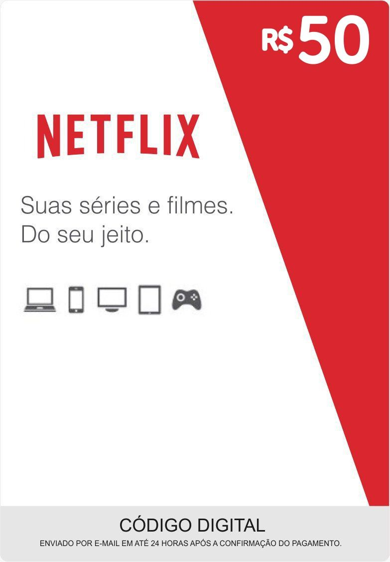 Cartão Pré-Pago Netflix R$50
