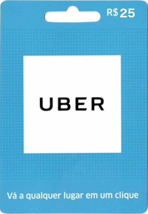 Cartão Pré-pago Uber R$ 25  - FastGames