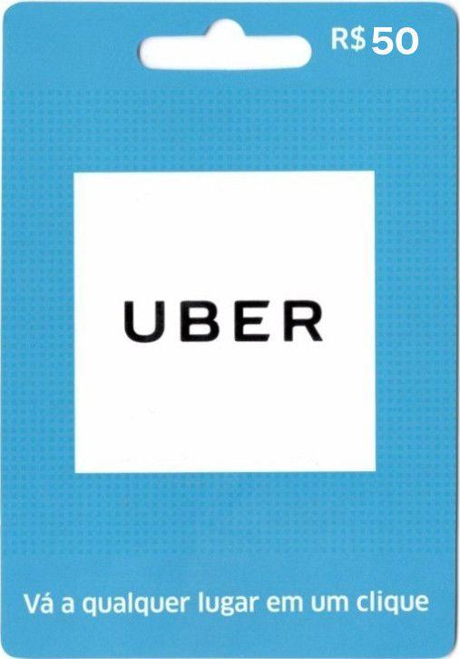 Cartão Pré-pago Uber R$ 50