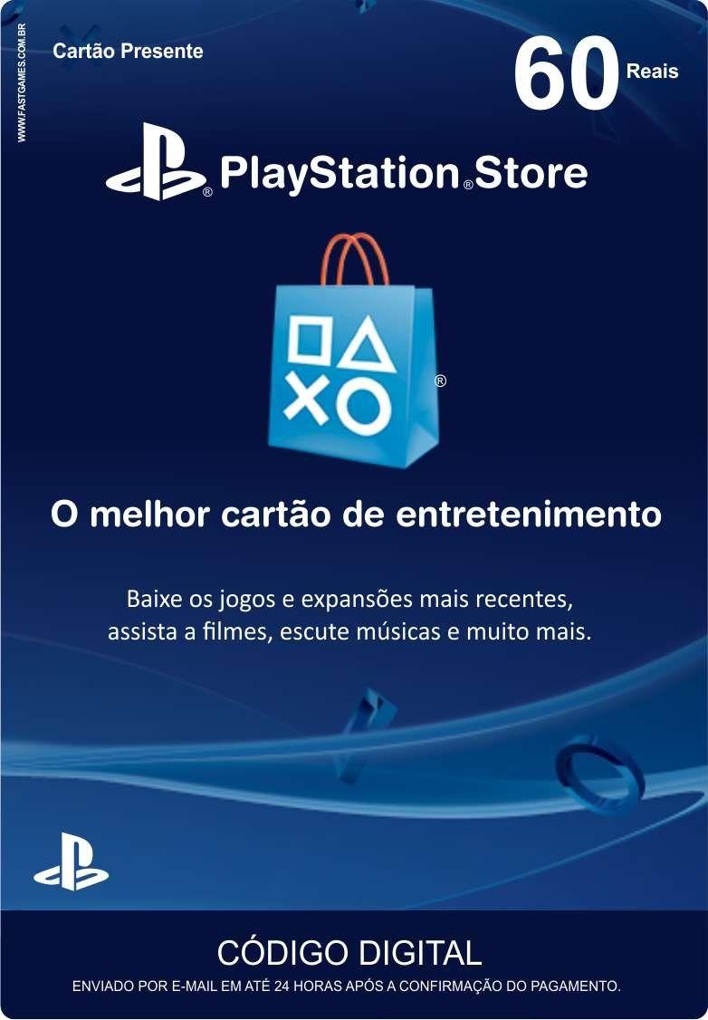 Cartão PSN Brasil R$60  - FastGames