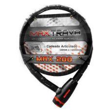 Trava Anti Furto Max Trava Cadeado Articulado Max 200 18x1200mm