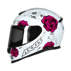 Capacete Axxis Eagle Flowers Gloss White/Pink