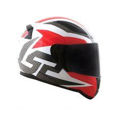 Capacete LS2 FF353 Rapid Grid White/ Black/ Red
