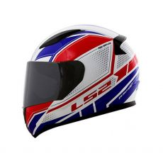 Capacete LS2 FF353 Rapid Infinity White/ Red/ Blue