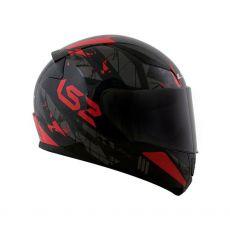 Capacete LS2 FF353 Rapid Palimnesis Black/ Red