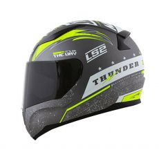 Capacete LS2 FF353 Rapid Thunder Matte Grey/White/Fluo Yellow