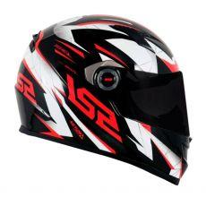 Capacete LS2 FF358 Draze Black/White/Red 60 L