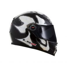 Capacete LS2 FF358 Warrior Black/White