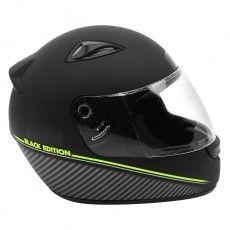 Capacete Moto Ebf New Spark Black Edition Preto Fosco e Verde