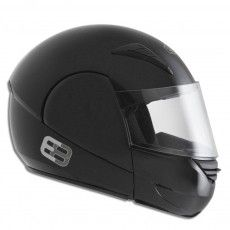 Capacete Moto Rocop Articulado Ebf Preto Brilhante E8