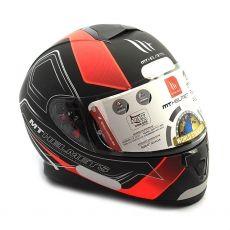 Capacete Mt Helmets Thunder 3 Trace Matt Black e Orange Fluor (60)